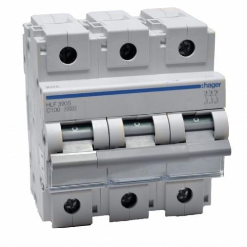 Hager HLF390S 100A автоматический выключатель