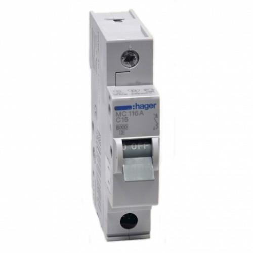 Hager MC116A 16A автоматический выключатель