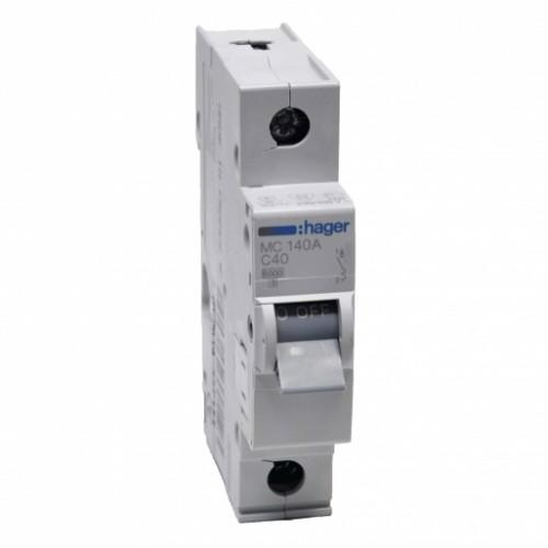 Hager MC140A 40A однополюсный автоматический выключатель