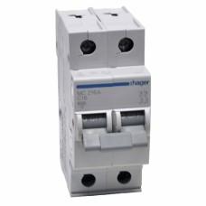 Hager MC216A 16A двухполюсный автоматический выключатель