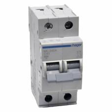 Hager MC240A 40A двухполюсный автоматический выключатель