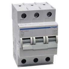 Hager MC316A 16A трехфазный автоматический выключатель