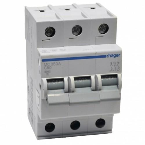 Hager MC350A 50A трехфазный автоматический выключатель