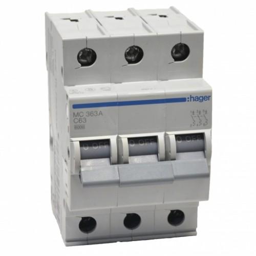 Hager MC363A 63A трехфазный автоматический выключатель
