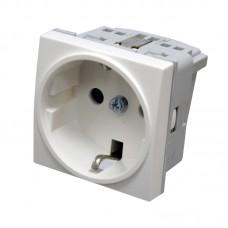 Модульная электрическая розетка 16А/250В Hager, 45х45мм