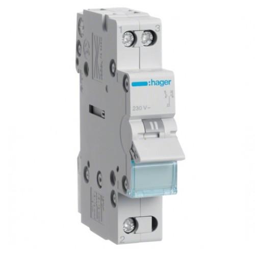 Переключатель ввода резерва однополюсный Hager SFT125 25A