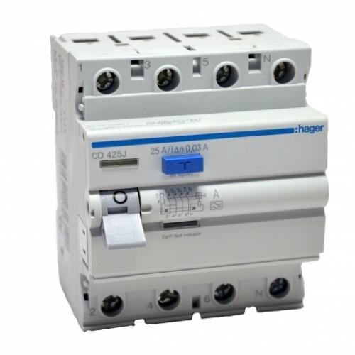 Устройство защитного отключения (УЗО) Hager CD425J 40A