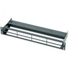 Патч-панель для 48 модулей LANscape 1.5 U, нержавеющая сталь
