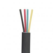Телефонный кабель 4-жилы, плоский, медный, черный