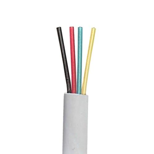 Телефонный кабель 4-жилы, плоский, медный, серый