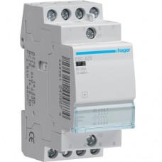 Контактор (пускатель) Эко Hager ESC425 25A, 4НВ, 230В
