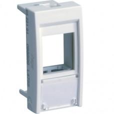 Корпус для модуля RJ-45 Keystone белый (22,5х45мм)