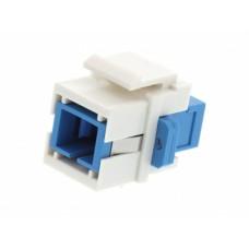 Адаптер оптический SC-SC SM симплекс с креплением Keysone