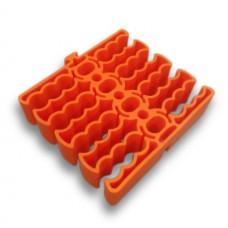 Расческа для витой пары на 24 линка, cat 5e, cat 6, cat 6a, cat 7, оранжевая