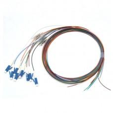 Цветные пигтейлы оптические LC/UPC MM (OM3), Easy strip, 8 шт