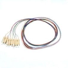 Цветные пигтейлы оптические SC/UPC MM (OM3), Easy strip, 8 шт