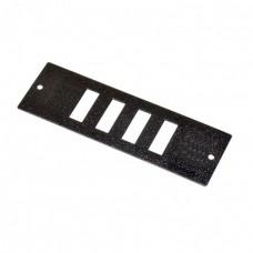 Лицевая панель 4 SC Duplex для оптического бокса FOBC, черная