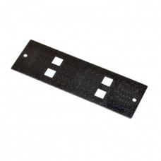 Лицевая панель 4 SC Simplex для оптического бокса FOBC, черная