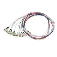 Оптические пигтейлы FC UPC цветные, 1.5 m, SM, Easy strip, 12 шт