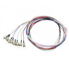 Оптические пигтейлы FC UPC цветные, 1.5 m, SM, Easy strip, 8 шт
