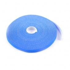 Стяжка-липучка, 12 мм x 10 м, синяя