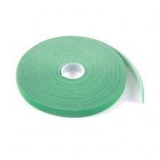 Стяжка-липучка, 12 мм x 10 м, зеленая