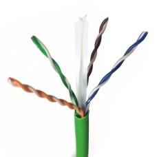 Витая пара U/UTP, cat. 6, AWG 24, LSZH, Corning (3M), с разделителем, зеленого цвета