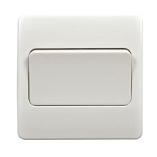 Выключатель одноклавишный проходной 86x86мм MK Electric, белый