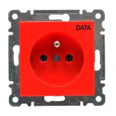 Розетка электрическая DATA 16А 230В Hager Lumina-2, красная