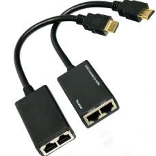 HDMI передатчик сигнала Full HD по витой паре cat.5e на 20 метров