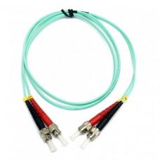 Патчкорд оптический ST-ST UPC MM (OM3), 2м, Duplex