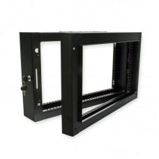 Поворотная рама для серверного шкафа 6U, черная