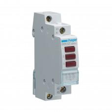 Hager SVN127 LED индикатор трех фаз, красный, 230В