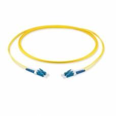 Оптический патч-корд, LC/UPC-LC/UPC, 2.0мм, (OS2), Duplex, LSZH, 1 метр