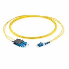 Оптический патч-корд LC/UPC-SC/UPC, 2.0мм, (OS2), Duplex, LSZH, 1 метр