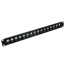 Патч-панель наборная на 16 модулей Keystone, 1U, 19 дюймов, EPNew