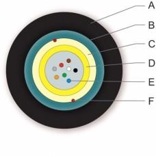 ВО кабель универсальный, гофроброня, U-DQ(ZN)(SR)H 1x12E9/125 OS2, FRNC/LSZH