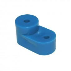Угловой изолятор шины заземления, синий