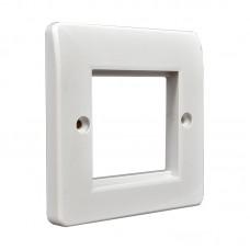 Рамка для розетки на 1 модуль 50х50мм или 50х25мм, белая