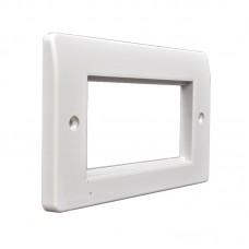 Рамка для розетки на два модуля 50х50мм MK Logic Plus, белая