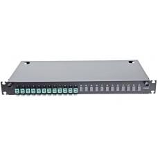 Оптическая панель 24 порта в сборе c 12 LC Duplex адаптерами и 24 пигтейлами Multi Mode, OM3