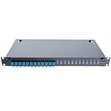 Оптическая панель 24 порта в сборе c 12 LC Duplex адаптерами и 24 пигтейлами Single Mode, OS2