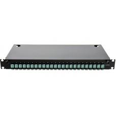 Оптическая панель 24 порта в сборе c 24 LC Duplex адаптерами и 48 пигтейлами Multi Mode, OM3