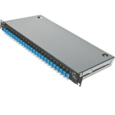 Оптическая панель 24 порта в сборе c 24 LC Duplex адаптерами и 48 пигтейлами Single Mode, OS2