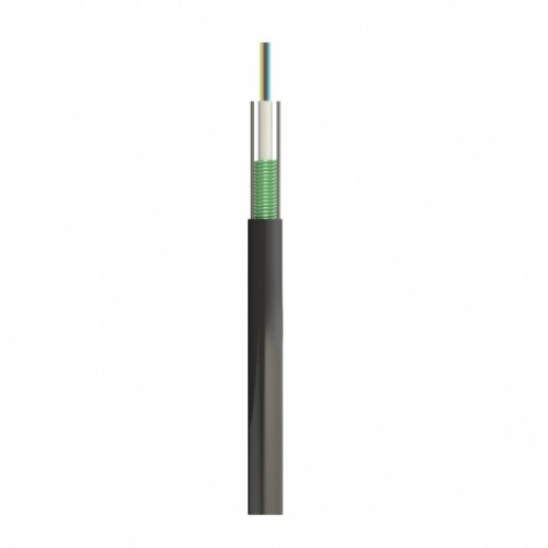 Кабель ОКТБг-М(1,5)П-8Е1-0,40Ф3,5/0,30H19-8 монотуб, стальная гофроброня, 2 стальных силовых элемента, ПЭ оболочка