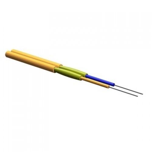ВО кабель патчкорд. J-V(ZN)H 2F G62.5 OM1, InfiniCor, ZipCord Tight-Buffered, LSZH™/FRNC, оранжевый, 1.8 мм