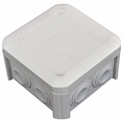 Коробка распределительная, наружная, пластиковая 90х90х52, 7 вводов IP55, без клем.