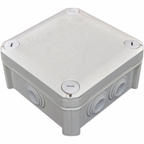 Коробка распределительная, наружная, пластиковая 114х114х57, 7вводов IP66, без клем.