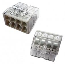 Соединитель для монолитных проводов (медь + алюминий) 0.5 – 2.5 мм2, 24А, 8 проводов.