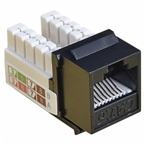 Модуль KeyStone RJ45 UTP,кат.6, 110, Slim, W-16,6мм, черный